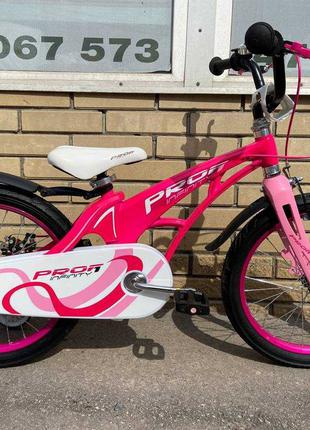 Велосипед детский Profi Infinity 16,18 диски черный розовый бе...
