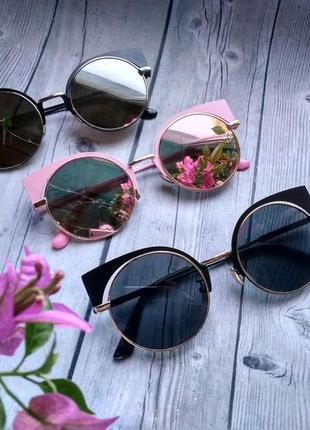 Очки солнцезащитные женские кошечки