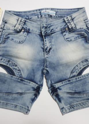Шорты джинсовые женские, 27 р-р новые, замеры есть