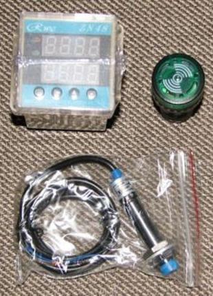 Контроллер оборотов (тахометр) с индуктивным датчиком (220В)