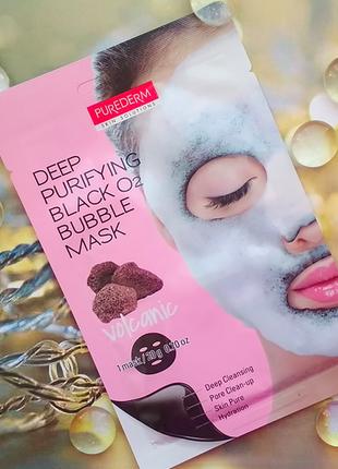 Кислородная маска для лица purederm deep purifying