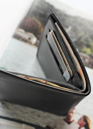 Кожаный компактный кошелек