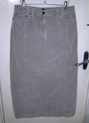 Супер-стрейч-коттон,шикарная,длинная,песочная юбка из микровел...