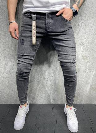 Джинсы мужские, мужские зауженные джинсы