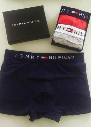Набор боксеров tommy hilfiger из 2 шт серый красный