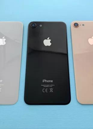 Apple iPhone 8 задняя крышка на замену стекло зад новые AAA скло