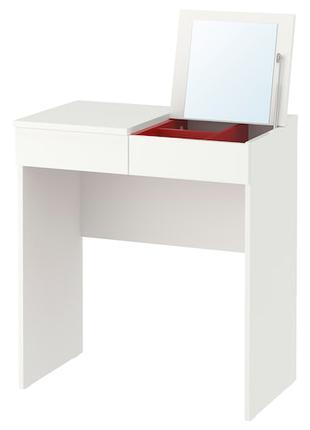 БРИМНЭС Туалетный столик с зеркалом, белый