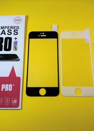Apple iPhone 5 / 5s / 5с стекло защитное 5D ПОЛНОЕ BAIXIN PRO+