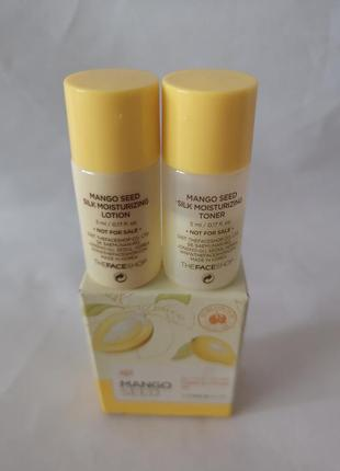 The face shop mango seed toner & lotion set набор мини версий ...