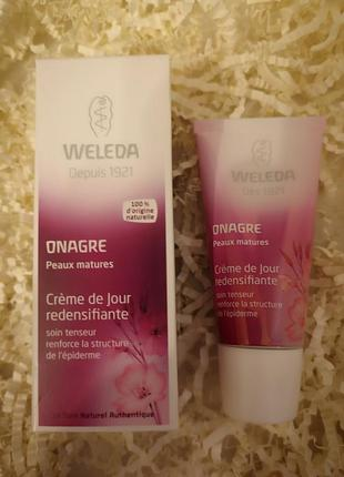Укрепляющий дневной крем с маслом примулы вечерней weleda 30 мл
