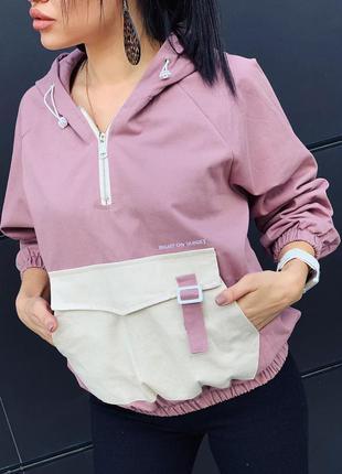 Женская куртка анорак ветровка корея