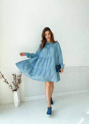 Платье льняное oversize