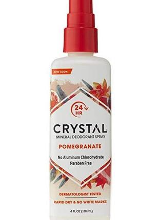 Crystal  натуральный дезодорант-спрей с экстрактом граната, 11...