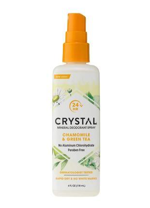 Crystal  дезодорант-спрей с ароматом ромашки и зеленого чая, 1...