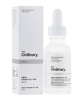 Сыворотка для осветления the ordinary – alpha arbutin 2% + ha,...