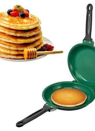 """Двусторонняя сковорода для блинов и панкейков """"Ceramic Pancake..."""