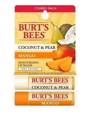 Бальзам для губ с кокосом и маслом манго burt's bees, coconut ...