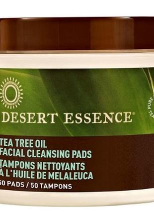 Desert essence очищающие салфетки с  маслом чайного дерева , 5...