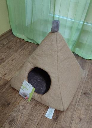 Домик для кошек Zoofari джут треугольник, квадрат