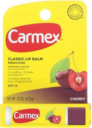 Бальзам для губ carmex cherry stick вишня , 4,25 гр.