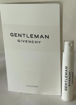 Givenchy gentleman cologne элитный мужской одеколон, 1 мл