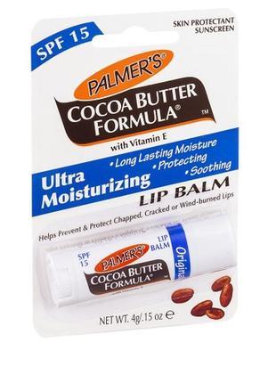 Бальзам для губ с маслом какао palmer's cocoa butter formula s...