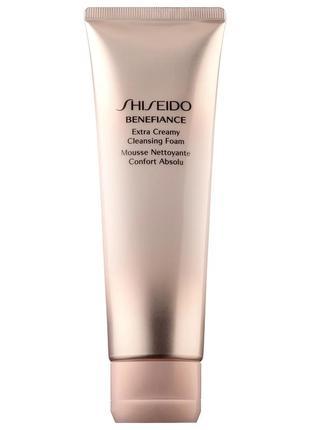 Очищающая пенка для лица shiseido benefiance extra creamy clea...