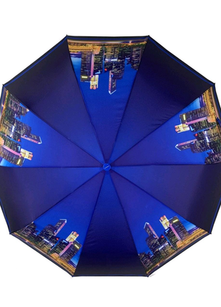 Женский зонт автомат с принтером ночного города (Flagman)