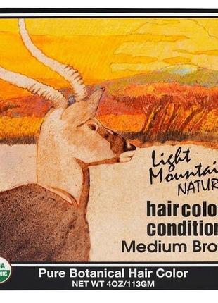 """Light mountain натуральная маска-кондиционер для волос """"средне..."""