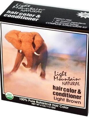 """Light mountain натуральная маска-кондиционер для волос """"светло..."""