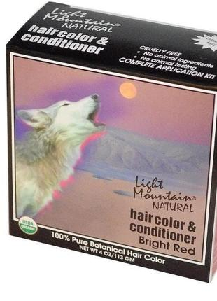"""Light mountain натуральная маска-кондиционер для волос """"ярко р..."""