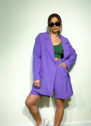 Шорты и пиджак, костюм