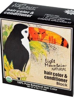"""Light mountain натуральная маска-кондиционер для волос """"черный..."""