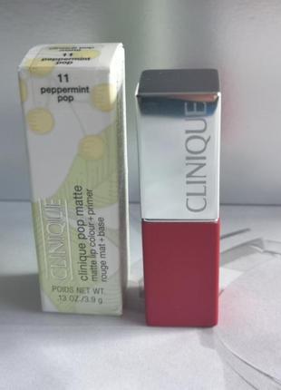 Clinique pop matte lip colour + primer матовая помада для губ ...