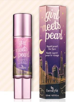 Жидкий жемчужный флюид для лица benefit girl meets pearl, 12 мл.
