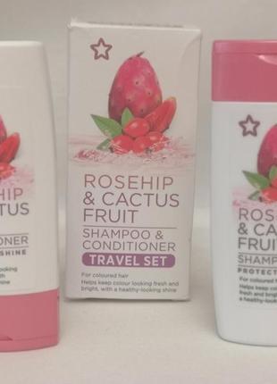 Rosehip & cactus friut набор шампунь+кондиционер, 50 мл