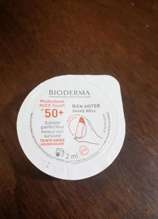 Солнцезащитное средство для кожи bioderma photoderm nude touch...