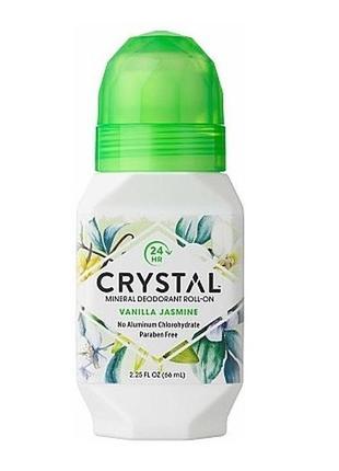 Роликовый дезодорант с ароматом ванили и жасмина crystal essen...