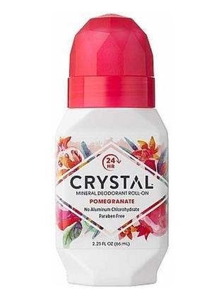 Роликовый дезодорант с ароматом граната crystal essence deodor...
