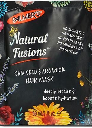 Palmer's  маска для волос с семенами чиа и аргановым маслом 30 мл