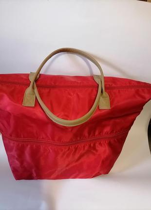 Красная сумка, дорожная сумка, сумка для покупок, шоппер