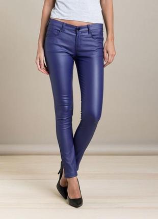 Jennifer стильные женские брюки из кожзама