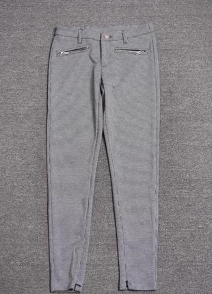 Mohito стильные жаккардовые женские брюки с декоративными заст...
