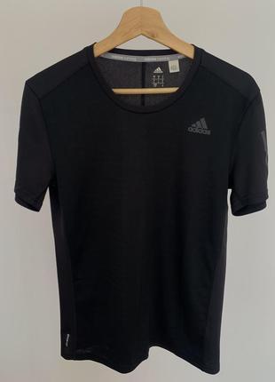 Спортивная футболка поло adidas чорная оригинал
