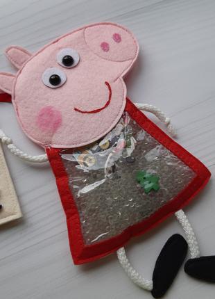 Развивающая детская игрушка искалка Свинка Пеппа