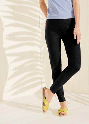 Женские джеггинсы чёрные р. евро 36 38 s esmara германия джинсы