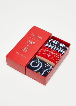 Крутые новогодние носки в подарочной коробке подарок новый год