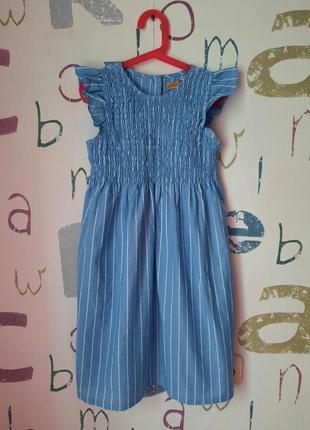 Новое платье котон 9-10 лет (134см)