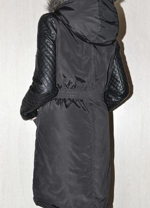 Брендовая модная черная куртка парка brave soul  established s-ка