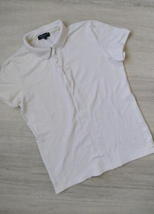 Женская белая футболка поло